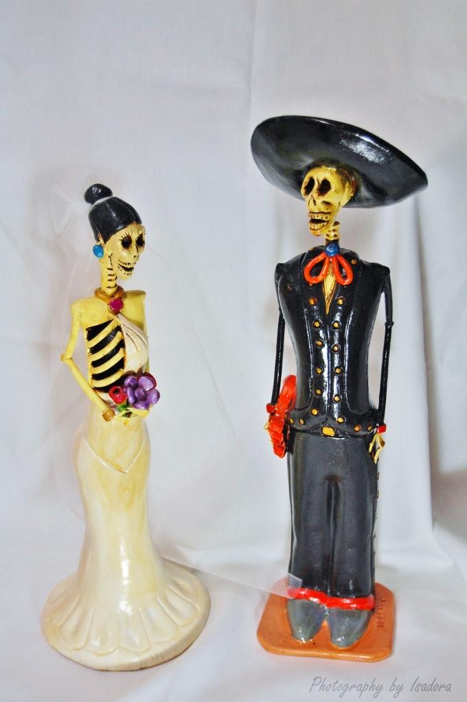 Skeleton Couple signed