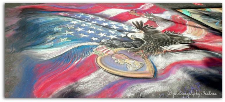 Street Art - American Flag - Eagle - GW.web