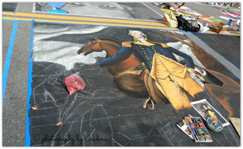 Street Art - George Washinton and horse.web