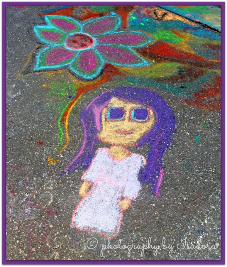 Street Art purple haired girl.web