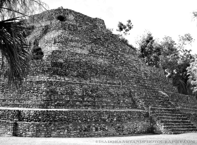 Costa Mayan Ruin Chachchoban BW A.web