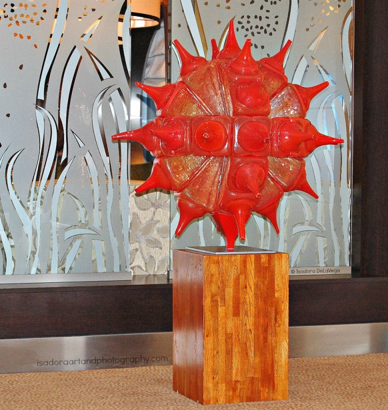 Art Orange Blown 1025 Glass Sculpture.web