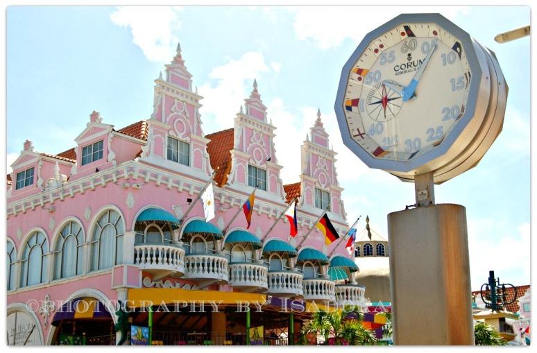 Aruba - Pink restaurant w clock.web