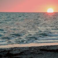Hot Summer Beach Sunsets